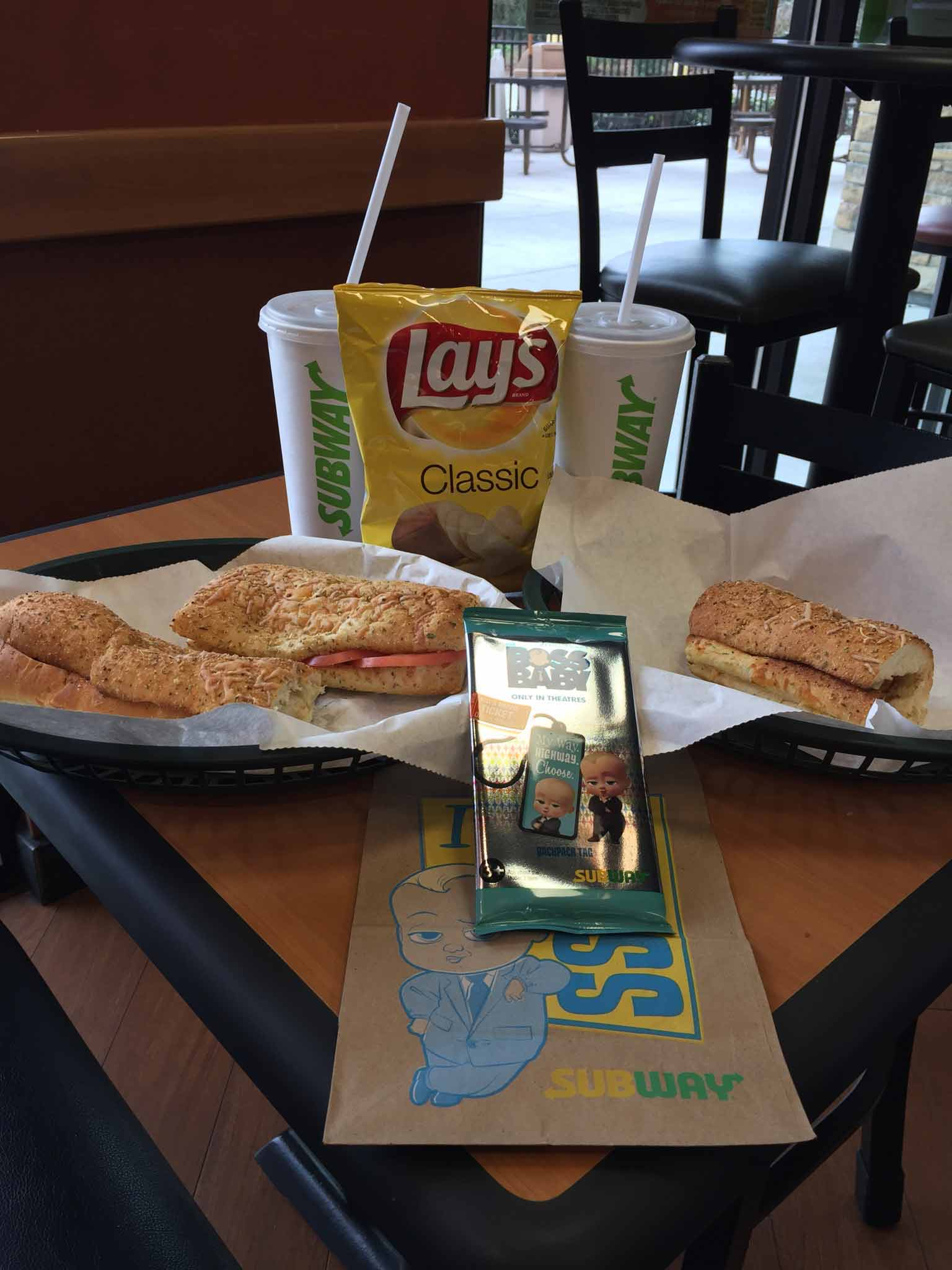 Subway food recived with coupon in The Family Fun Book - Daytona Beach Florida