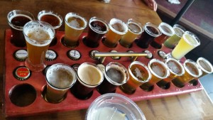Full flight at Russian River Brewery - Santa Rosa, CA