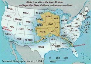 courtesy of google images map of alaska