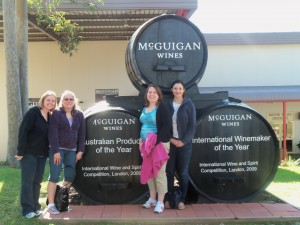 My mom, my friend (far left), and I visiting Hunter Valley in Australia. 4+ months pregnant!