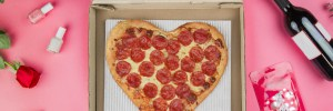 pizza hut heart shaped pizza