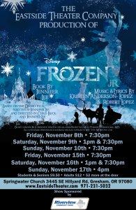 frozen jr eastside theater