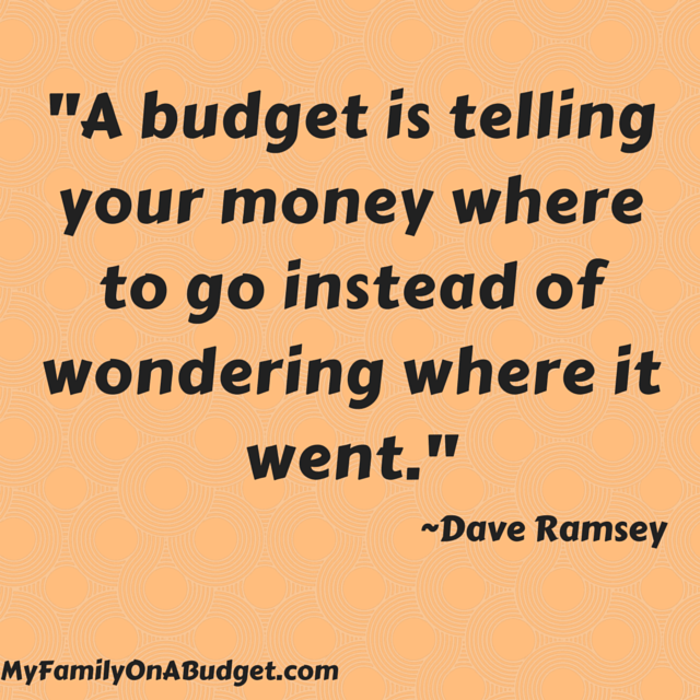 """A budget is telling your money where to go instead of wondering where it went."""