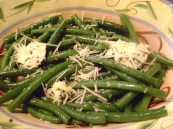 green beans with basil butter parm