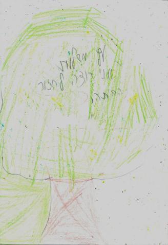 עץ המשאלות - ציור של ילד שהוצא בכפיה לפנימיה