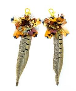 My Fancy Feathers Boot Tassels, Pheasant