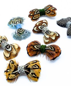 A selection of My Fancy Feathers Hair Bows for Children.