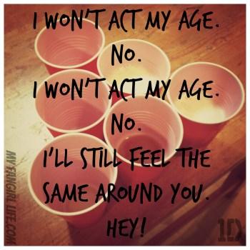 One Direction Four Lyrics - Act My Age 2