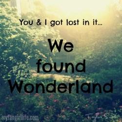 Taylor Swift 1989 Lyrics - Wonderland 1