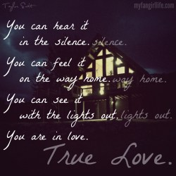 Taylor Swift 1989 Lyrics - You Are In Love 1