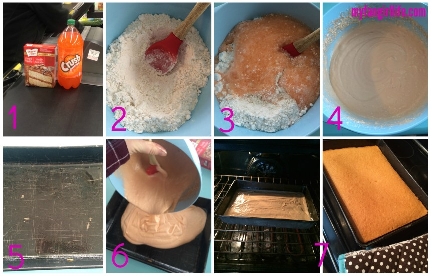 How to bake a cake with pop