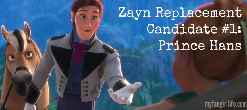 Zayn Replacement Candidate 1 - Prince Hans Frozen