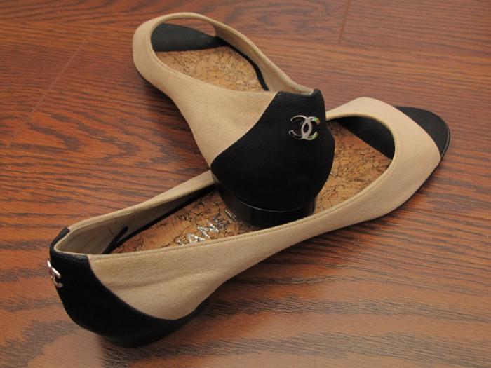 Chanel flats, shoes
