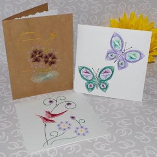 Flower Butterfly Garden Cards