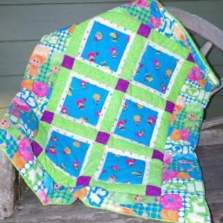 32 X 42 Framed Squares Baby Quilt