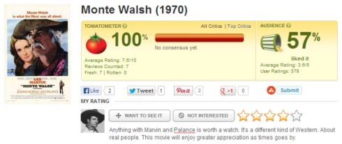 Monte Walsh / Rotten Tomatoes