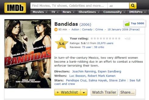 banditas IMDB