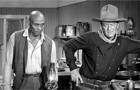 The Man Who Shot Liberty Valance - Woody Strode and Wayne