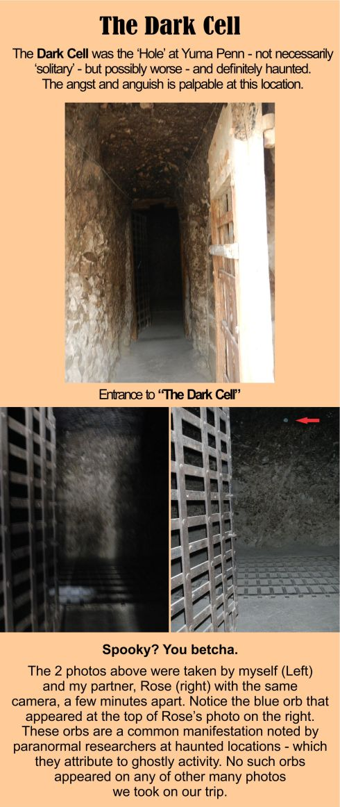 Yuma Territorial Prison State Historical Park - The Dark Cell