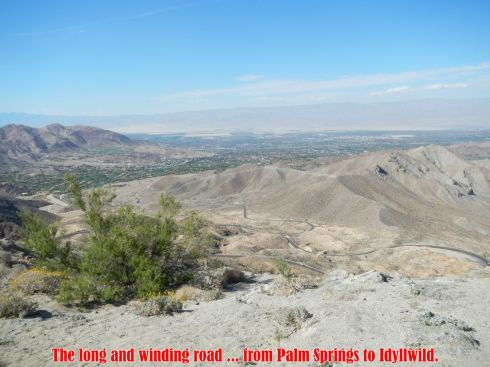 Palm Springs to Idyllwild ... winding road