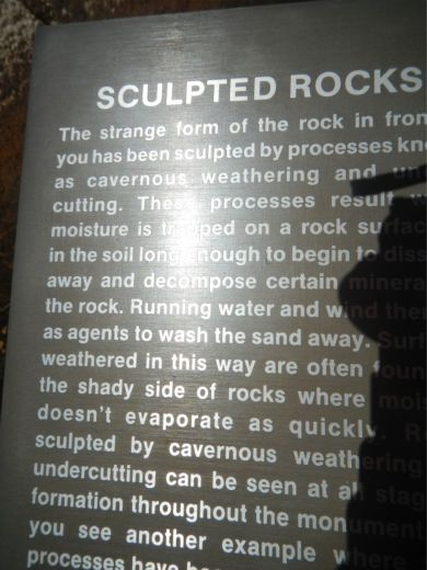Sculpted rocks