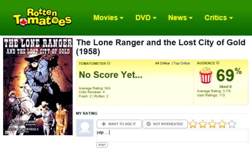 Rotten Tomatoes City of Gold