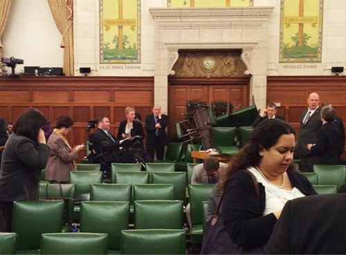 Security: Parliament Hill Style - Members of Parliament barricade the doors
