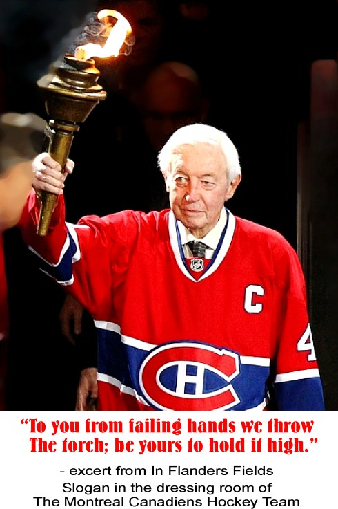 Jean Beliveau Olympic Torch