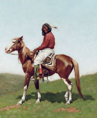 Comanche Brave, Fort Reno, Indian Territory