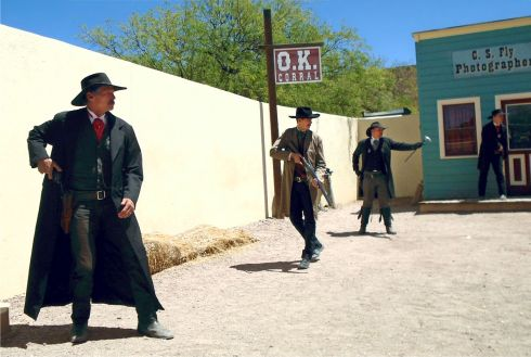 OK CORRAL REENACTMENT showdown