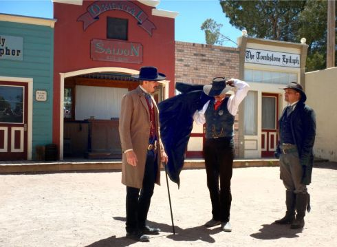OK CORRAL REENACTMENT Wyatt shows