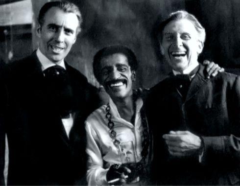 Christopher Lee, Sammy Davis Jr., Peter Cushing