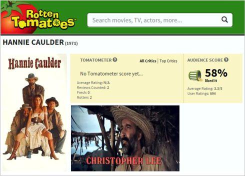 Hannie Caulder Rotten Tomatoes Review