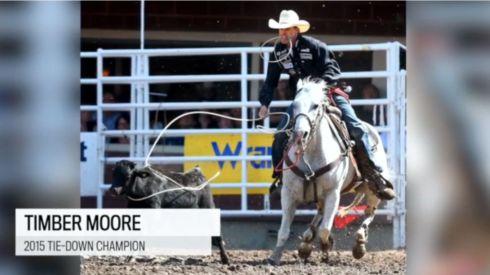 Timber Moore Calf Roping Champ 3