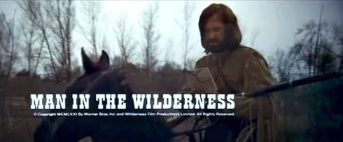MAN IN THE WILDERNESS banner