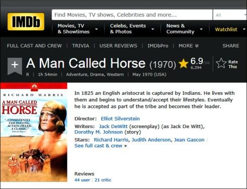 A Man Called Horse IMDB