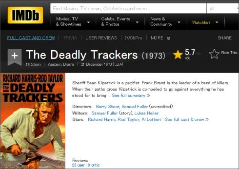 The Deadly Trackers IMDB