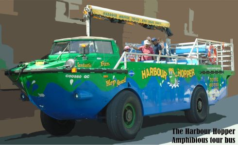 Halifax Harbour Hopper tour bus