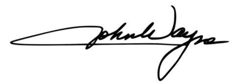 John Wayne signature