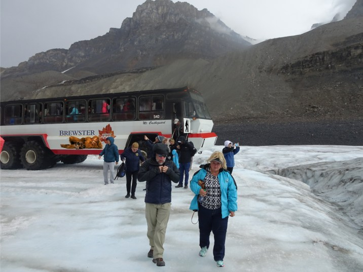COLUMBIA ICEFIELD out we tumble