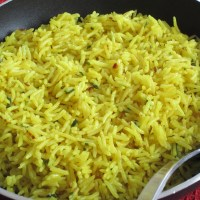 Coconut Rice with Turmeric