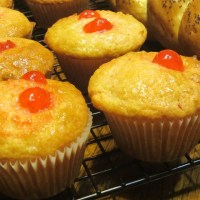 Cherry Lemon and Coconut Muffins