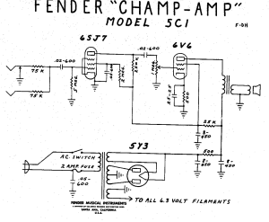 Fender Champ 5C1 Wiring Diagram | My Fender Champ