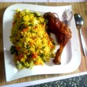 Golden Rice Vegetables with Chicken
