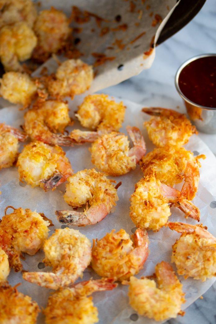 MyFinancialHill Air Fryer Coconut Shrimp Healthy Low Carb Dinner