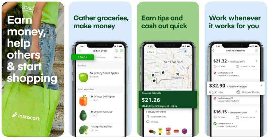 Instacart - How to make 10 dollars fast with PayPal- My Financial Hill