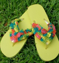 butterfly flip-flops