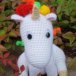 Unicorn Bobblehead Crochet Pattern