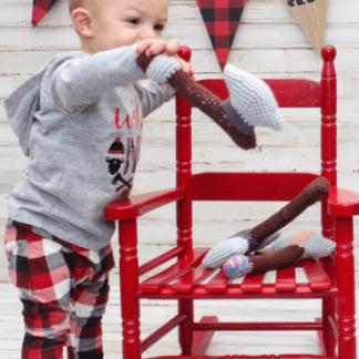 Battle Axe Baby Rattle Crochet Pattern