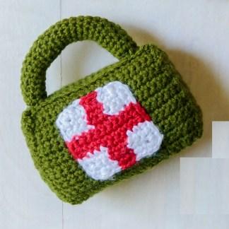 Briefcase Baby Rattle Crochet Pattern